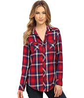 Angie - Long Sleeve Plaid Shirt