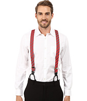 Stacy Adams - Gingham Striped Button On Suspenders