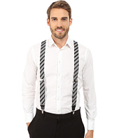 Stacy Adams - Gingham Striped Clip On Suspenders