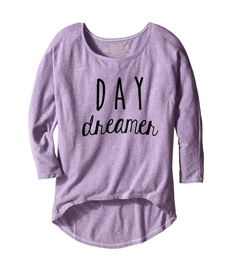 The Original Retro Brand Kids Day Dreamer Dolman Pullover Big Kids Streaky Purple Girls Clothing