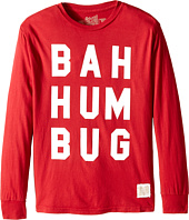The Original Retro Brand Kids - Bah Hum Bug Long Sleeve Tee (Big Kids)