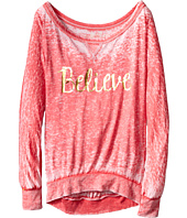 The Original Retro Brand Kids - Believe Long Sleeve Pullover (Big Kids)