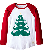 The Original Retro Brand Kids - Baseball Raglan Mustache Tree Shirt (Big Kids)
