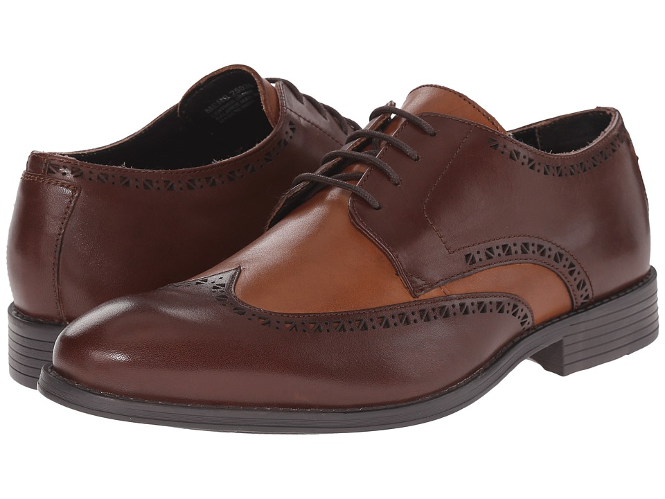 Stacy Adams - Rayburn BrownCognac Mens Lace Up Wing Tip Shoes $90.00 AT vintagedancer.com