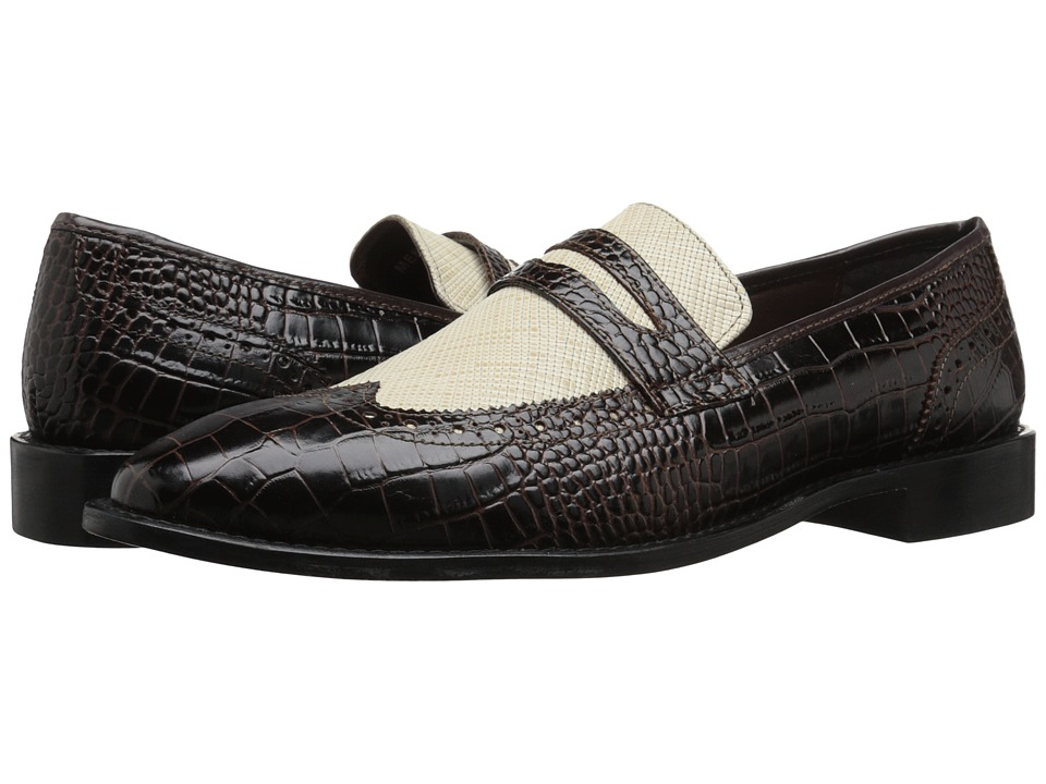 Stacy Adams - Valenti BrownIvory Mens Lace Up Wing Tip Shoes $90.00 AT vintagedancer.com