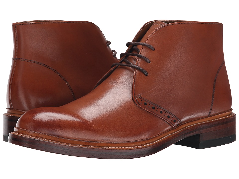 Mens Vintage Style Shoes| Retro Classic Shoes Stacy Adams - Madison II - 65 Cognac Smooth Mens Lace-up Boots $180.00 AT vintagedancer.com