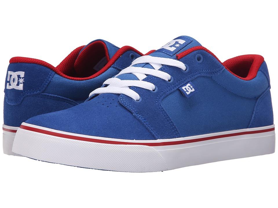 DC Anvil Blue/Red/White Mens Skate Shoes