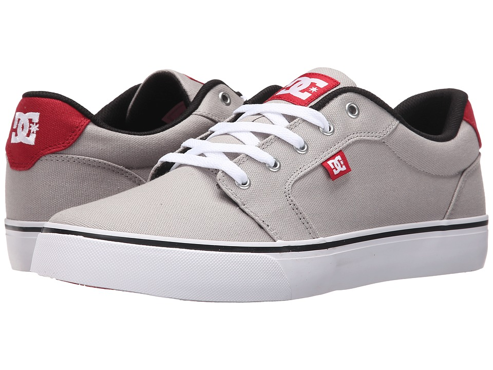 DC Anvil TX Grey/Red/White Mens Skate Shoes