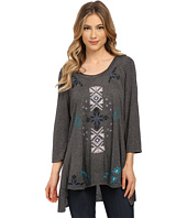 Angie - 3/4 Sleeve Embroidered Tunic Top