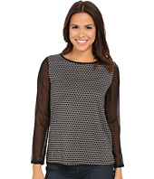 Angie - Long Sleeve Print Knit Top