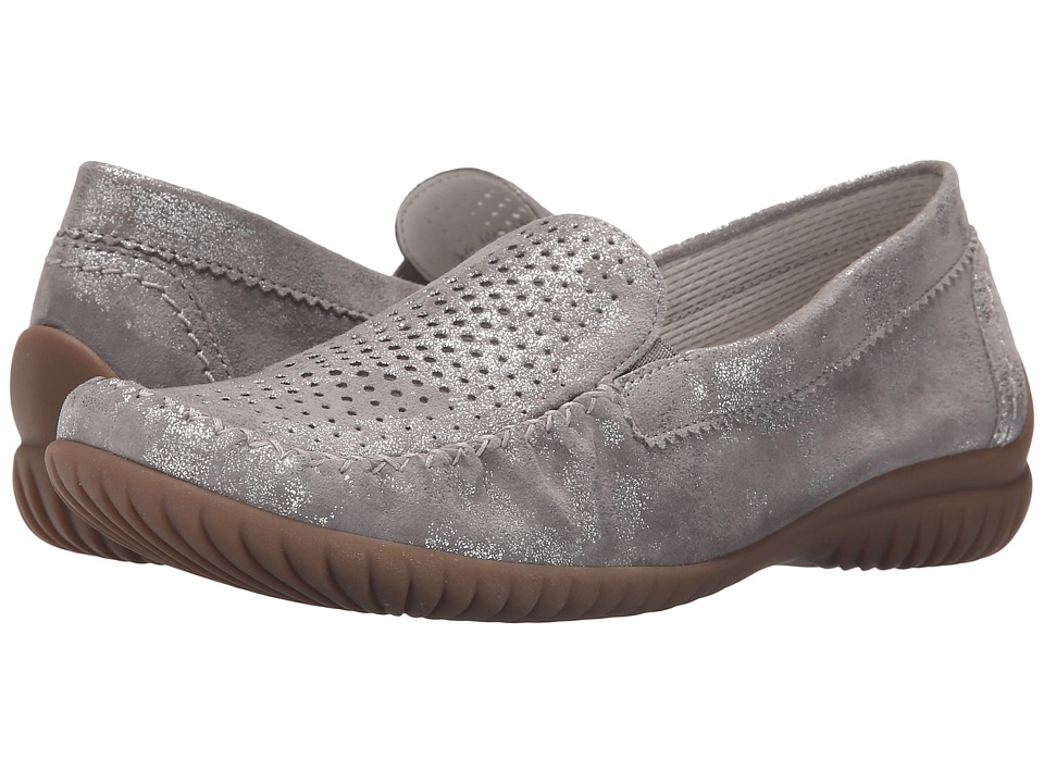 Gabor Gabor 46.094 Grau Caruso Metallic Womens Flat Shoes