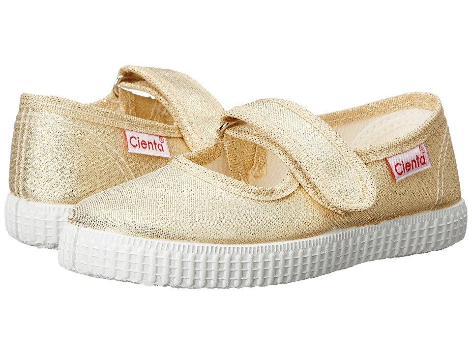 Cienta Kids Shoes 56003 Infant/Toddler/Little Kid/Big Kid Gold Sparkle Girls Shoes