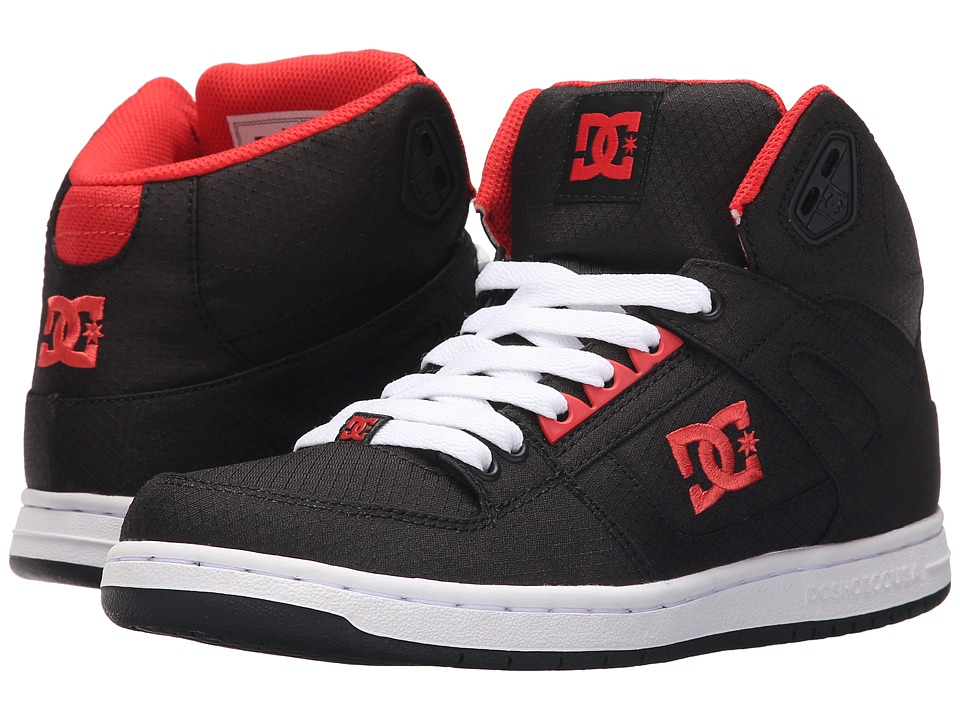 DC Rebound High TX Black/Poppy Red Womens Lace up casual Shoes