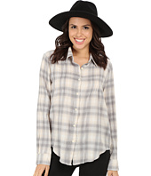 Dylan by True Grit - Romantic Blouse Buffalo Check w/ Embroidery