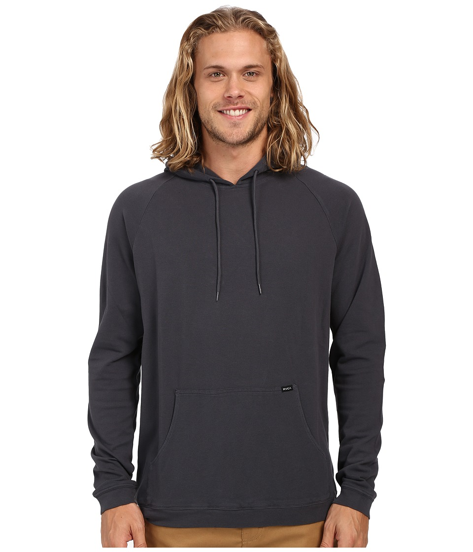 RVCA Pick Pullover Knit Carbon Mens Long Sleeve Button Up