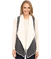 Dylan by True Grit - Luxe Fleece Drape Vest w/ Fur Lining