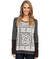 Dylan by True Grit - Vintage Crochet and Fleece Top