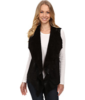 Dylan by True Grit - Boheme Bonded Suede Pile Ruffle Vest