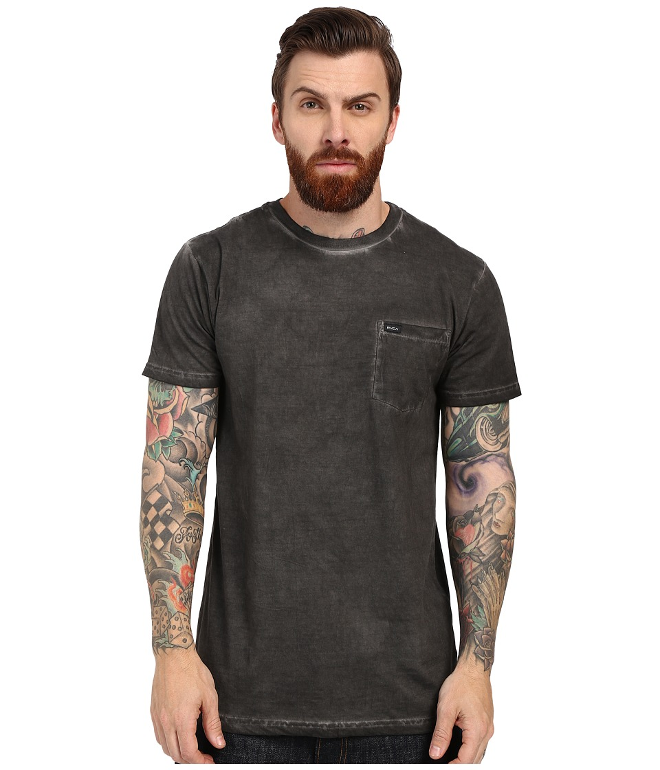 RVCA Cold Call Short Sleeve Knit Pirate Black Mens Short Sleeve Pullover