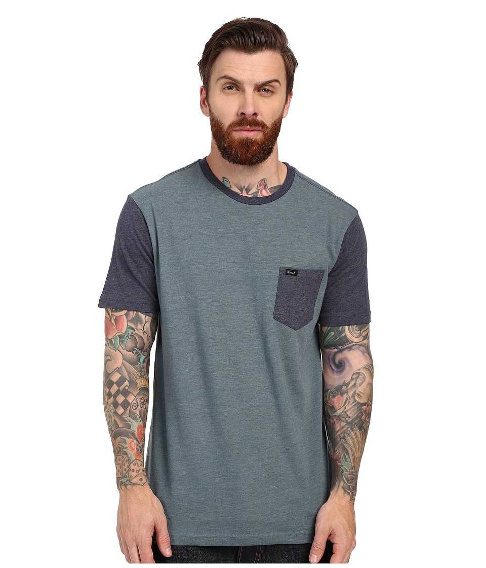 RVCA Change Up Knit Stormy Blue Mens Short Sleeve Pullover