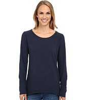 Dylan by True Grit - Sueded Knit Solid Long Sleeve Rock Tee