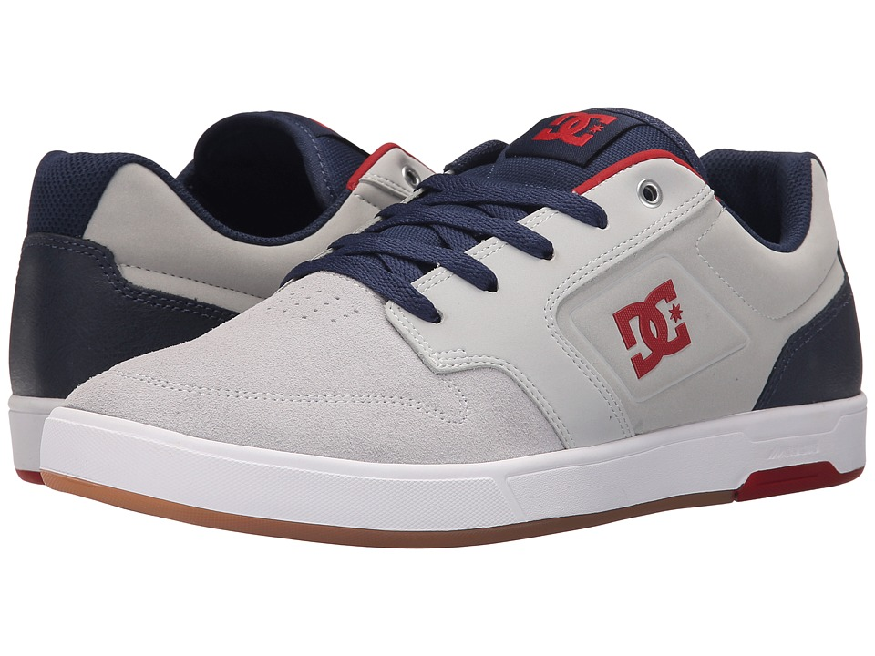 DC Argosy Light Grey/True Red Mens Lace up casual Shoes