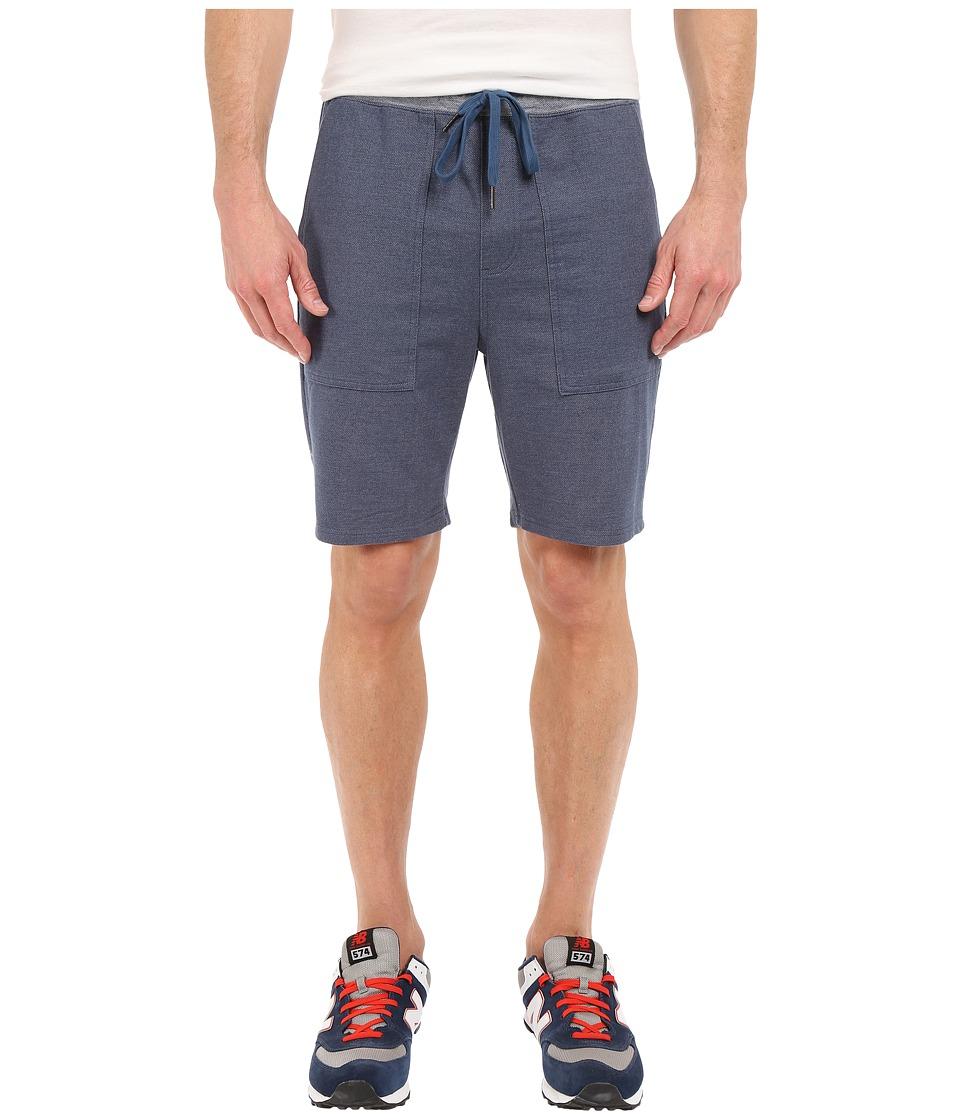 RVCA Mystic Elastic Sweat Shorts Denim Blue Mens Shorts