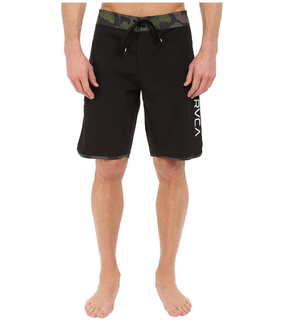 RVCA Eastern 20 Trunks Black Mens Swimwear