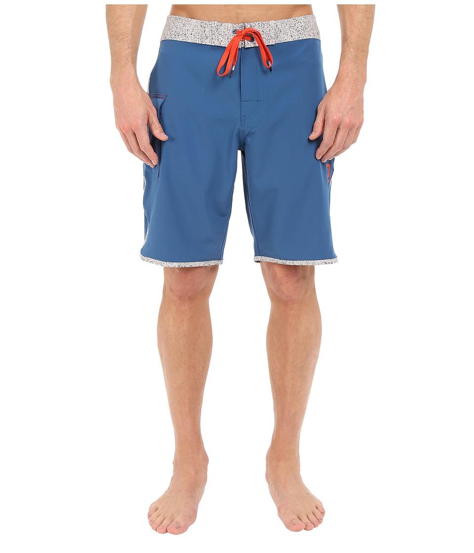 RVCA Eastern 20 Trunks Dark Blue Mens Swimwear