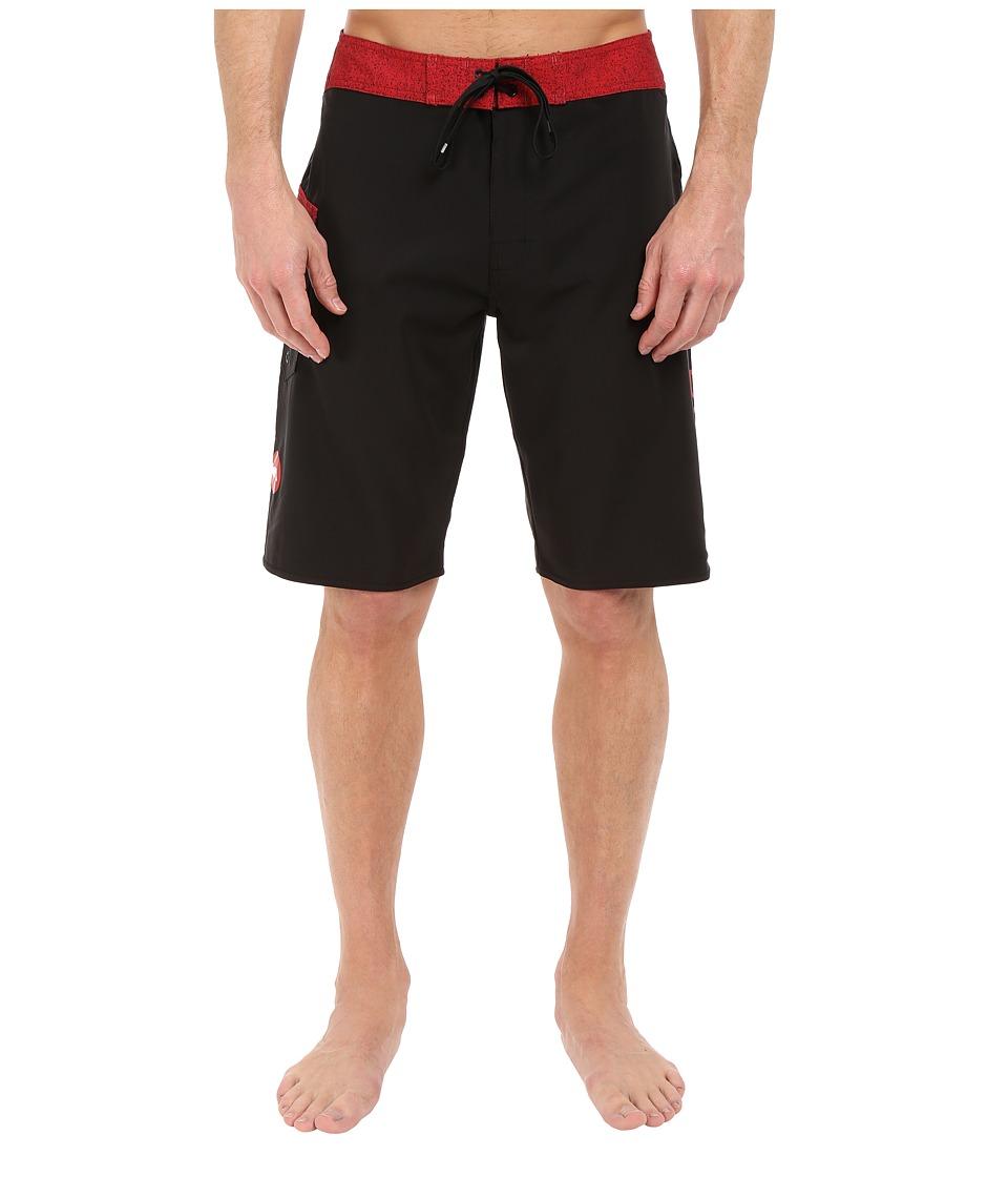 RVCA Register 20 Boardshorts Black Mens Swimwear