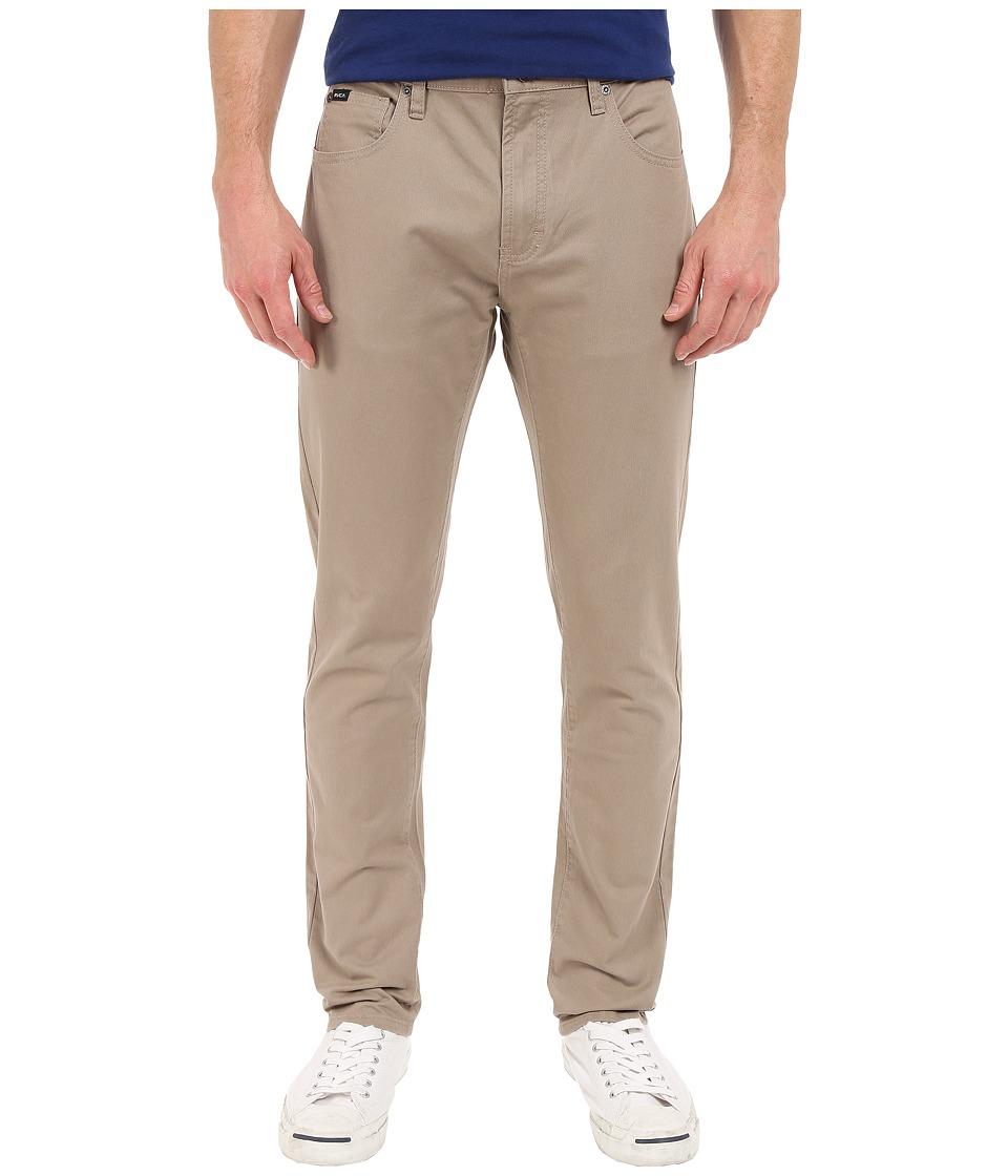 RVCA Daggers Twill Pants Dark Khaki Mens Casual Pants