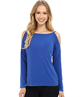 MICHAEL Michael Kors - Oval Link Cold Shoulder Top