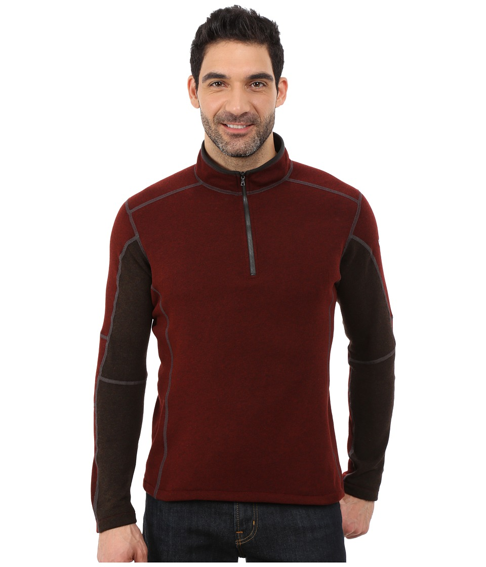 Kuhl Revel 1/4 Zip (Brick/Charcoal) Men