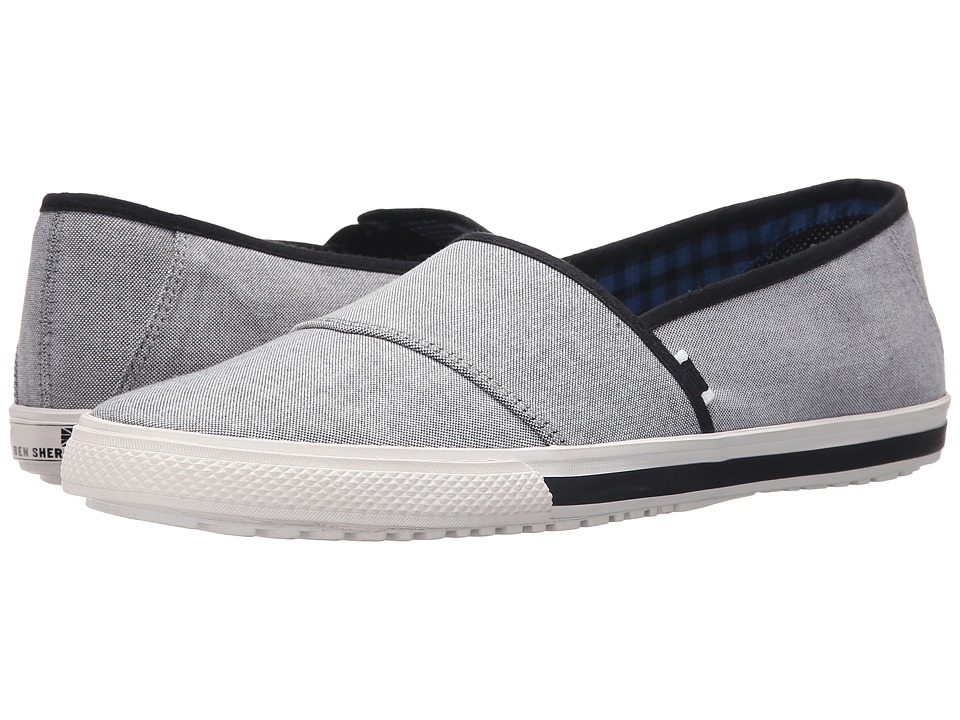 Ben Sherman Chandler Sport Slide Black Chambray Mens Slip on Shoes