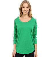 MICHAEL Michael Kors - Stud Shoulder 3/4 Sleeve Top