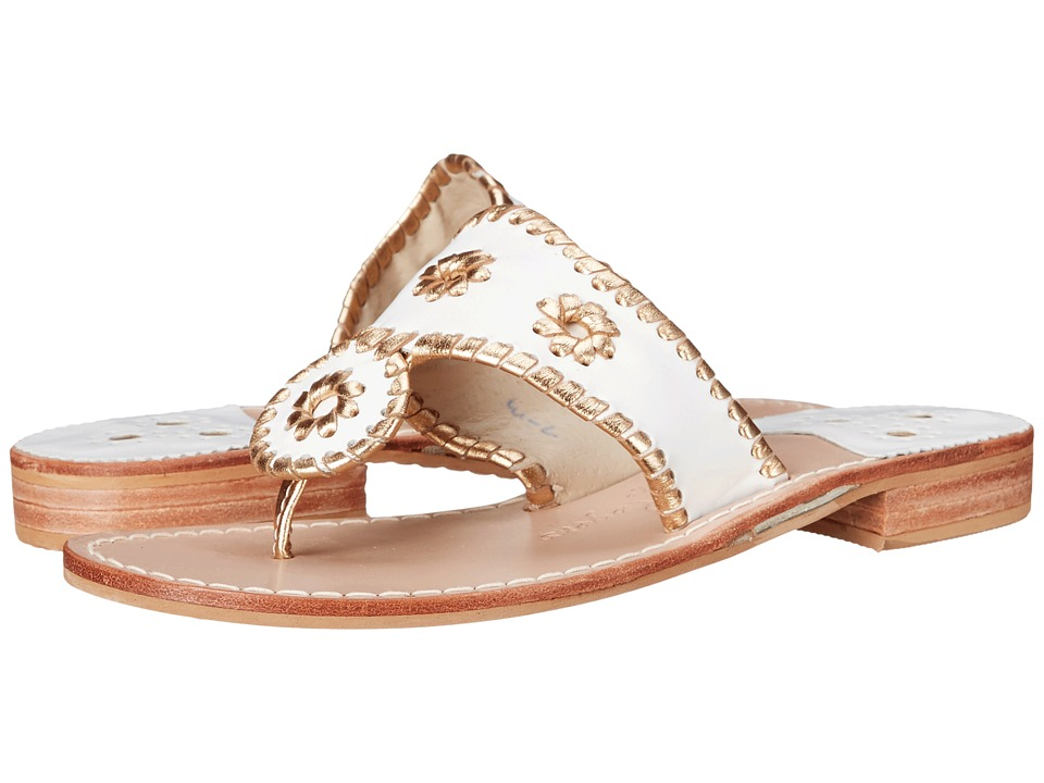 Jack Rogers Nantucket Gold (White/Gold) Sandals