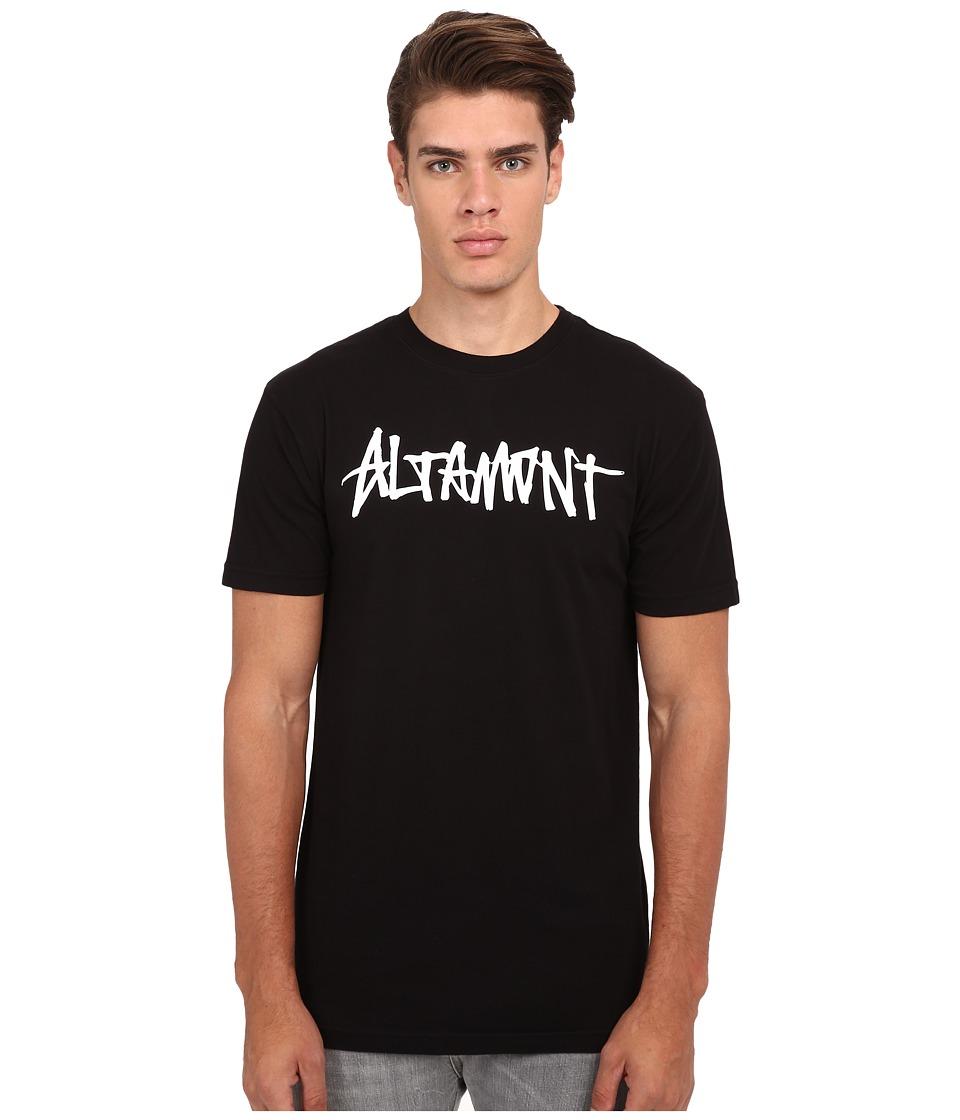 Altamont One Liner Black Mens Short Sleeve Pullover