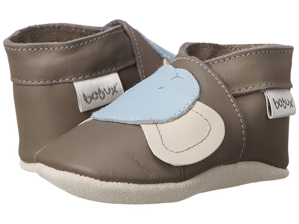 Bobux Kids Soft Sole Elephant (Infant) (Gray/Blue) Boy's Shoes