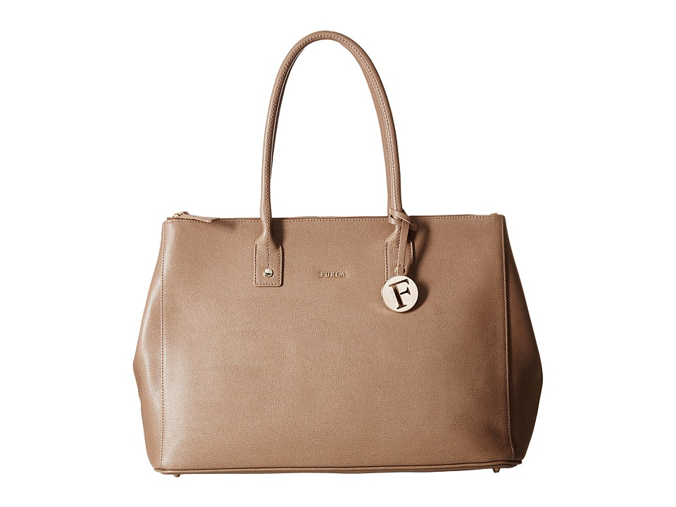 Furla - Linda Large Tote C/Zip (Color Daino 1) Tote Handbags