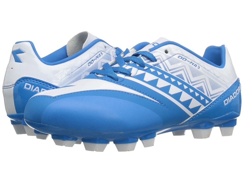 Diadora Kids DD NA 3 R LPU Jr Soccer Little Kid/Big Kid Royal/White Kids Shoes