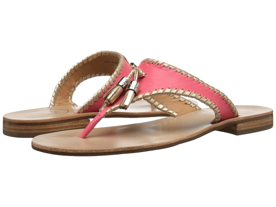 Jack Rogers Alana Bright Pink/Gold Womens Sandals