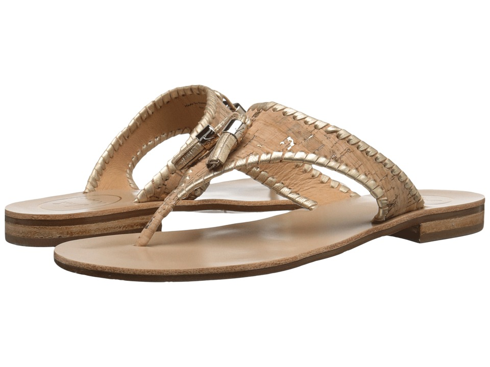 Jack Rogers Alana Cork/Gold Womens Sandals