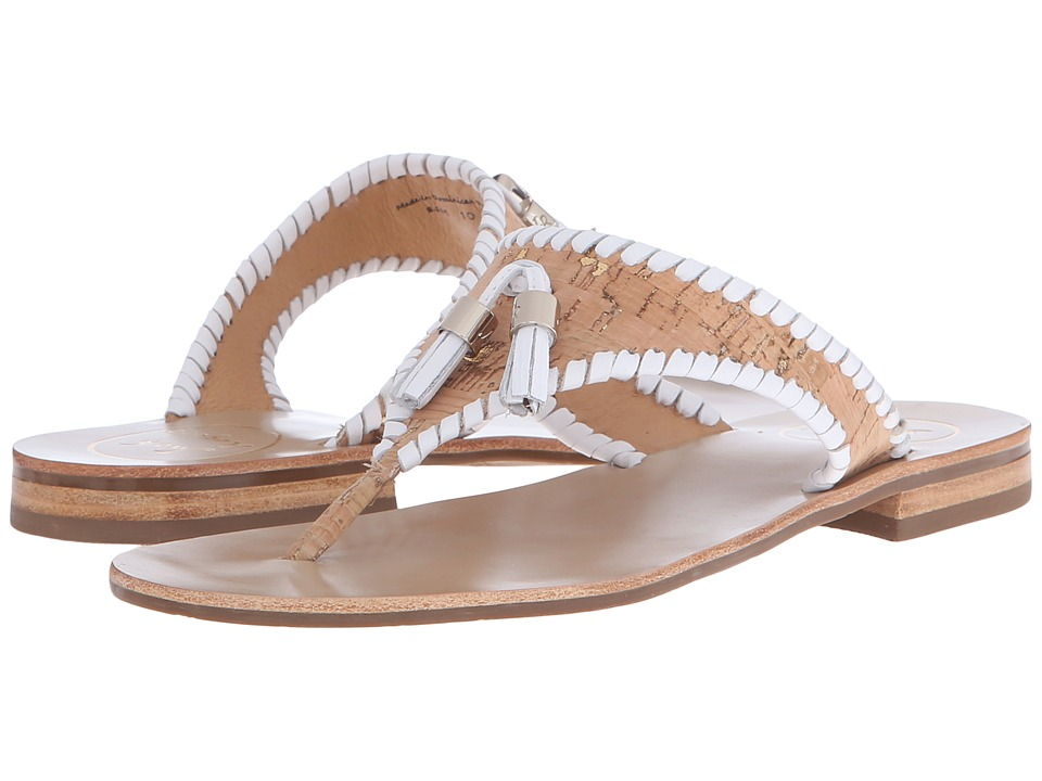 Jack Rogers Alana Cork/White Womens Sandals