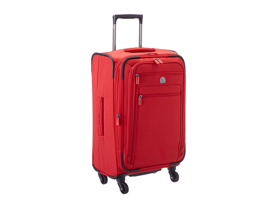 Delsey Helium Sky 2.0 Carry On Exp. Spinner Trolley Red Luggage