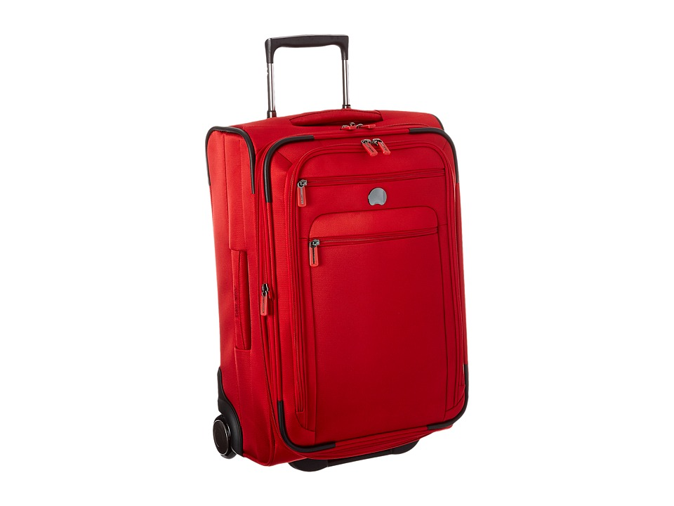 Delsey Helium Sky 2.0 Carry On 2 Wheel Exp. Trolley Red Luggage