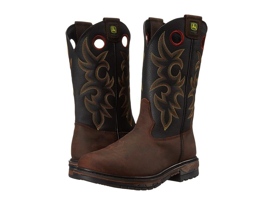 John Deere Non Steel Toe Brown Bison Mens Work Boots