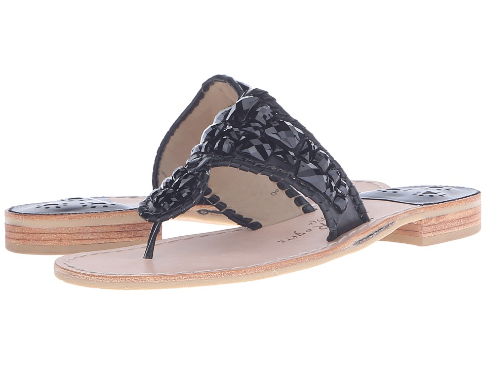 Jack Rogers Bijou Black Womens Sandals