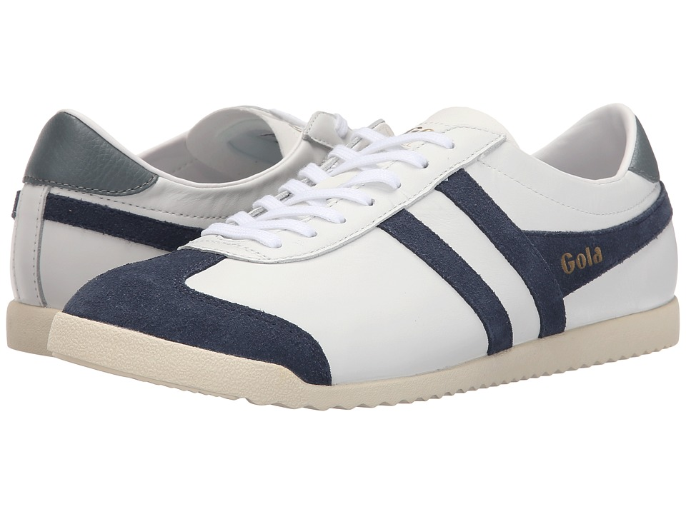 Gola Bullet Leather White/Navy Mens Shoes