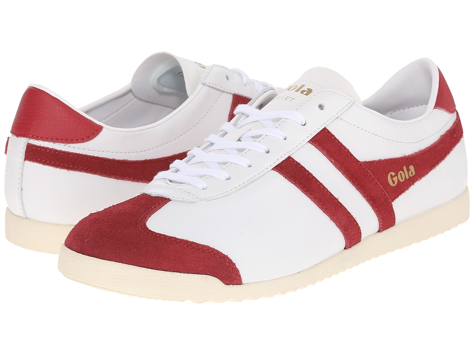 Gola Bullet Leather (White/Deep Red) Men