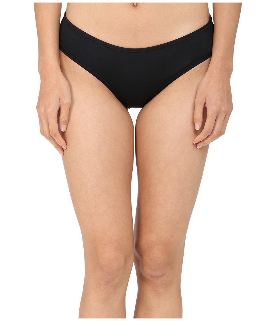 Kate Spade New York Georgica Beach Hipster Bottom Black Womens Swimwear